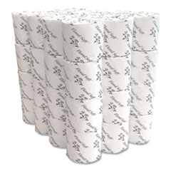 Floral Soft® Two-Ply Standard Bathroom Tissue, Septic Safe, White, 400 Sheets/Roll, 48 Rolls/Carton