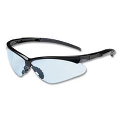 Bouton® Adversary Optical Safety Glasses, Anti-Scratch, Light Blue Lens, Black Frame