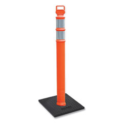 """Cortina Safety Products EZ GRAB Delineator Post, HDPE, 45""""h, Orange"""