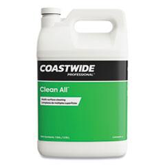 Coastwide Professional™ Clean All Multisurface Cleaner, Lemon Scent, 3.78 L Bottle, 4/Carton
