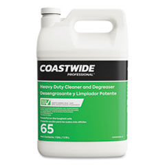 Coastwide Professional™ Heavy-Duty Cleaner-Degreaser 65 Eco-ID Concentrate, Fresh Citrus Scent, 3.78 L Bottle, 4/Carton