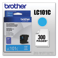 Brother LC101C Innobella Ink, 300 Page-Yield, Cyan