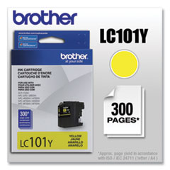 Brother LC101Y Innobella Ink, 300 Page-Yield, Yellow