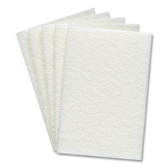 Coastwide Professional™ Light Duty Scouring Pads, White, 60/Pack