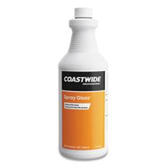 Coastwide Professional™ Spray Gloss Floor Finish and Sealer, Peach Scent, 0.95 L Bottle, 6/Carton
