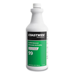 Coastwide Professional™ Graffiti Remover, 0.95 L Bottle, 6/Carton