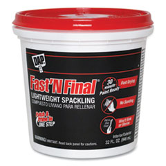 DAP® Fast ' N Final Lightweight Spackling, 32 oz Tub/Pail, White