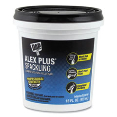 DAP® ALEX PLUS Spackling, 16 oz Tub/Pail, White