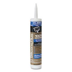 DAP® SILICONE PLUS Premium Window, Door and Siding 100 Percent Silicone Sealant, 10.8 oz Capsule/Cartridge, Clear