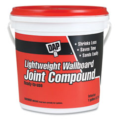 DAP® Lightweight Wallboard Joint Compound, 1 gal Tub/Pail, White