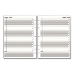 """AT-A-GLANCE® Day Runner® """"Things To Do"""" Planner Refill, 7-Hole Punched, 15 Ruled Entries/Page, 11 x 8.5, 30 Sheets"""