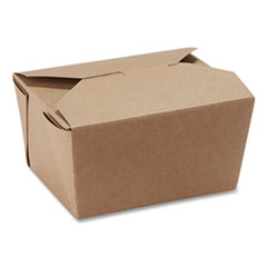 Dixie® Reclosable One-Piece Natural-Paperboard Take-Out Box
