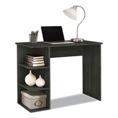Easy 2 Go Student Desk with Bookcase, 40 x 19 x 30, Gray