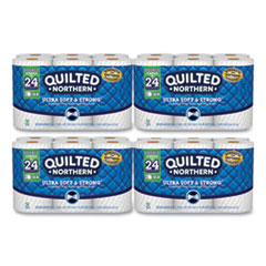 Quilted Northern® Ultra Soft and Strong Bathroom Tissue, Double Rolls, Septic Safe, 2-Ply, White, 164 Sheets/Roll, 48 Rolls/Carton