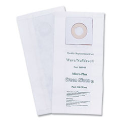 Green Klean® Replacement Vacuum Bags, Fits Windsor Chariot iVac/Nuwave, 10/Pack