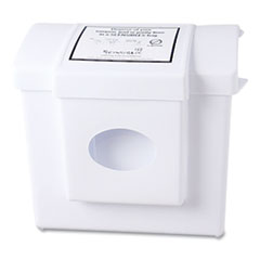 HOSPECO® Scensibles Combination Dispenser Receptacle Unit, Plastic, White