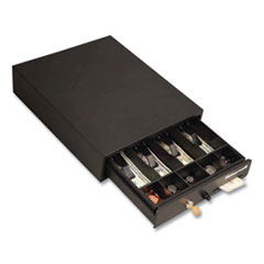 Honeywell Space-Saving Steel Cash Drawer, Keylock, 17 x 13 x 4, Black