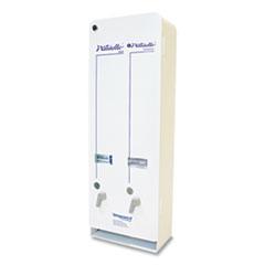 Impact® Naturelle J6-RC Enamel Feminine Dual Dispenser, Metal, 10.63 x 5.63 x 30.5, White
