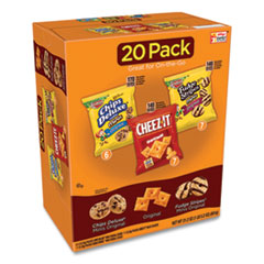 Keebler® Cookie and Cracker Variety Packs, Assorted, 1 oz Bags, 1.2 oz Bags, 20/Carton