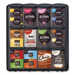 Mars Flavia® Merchandiser, For FLAVIA Freshpacks, 4 Compartments, 9.1 x 13.5 x 14.4,  Black