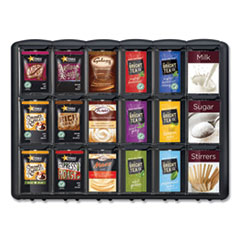 Mars Flavia® Merchandiser, For FLAVIA Freshpacks, 6 Compartments, 21.25 x 17 x 16.5, Black