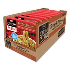 Nissin® Chow Mein Noodles, Teriyaki Beef, 4 oz Tray, 8/Carton