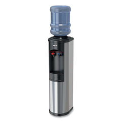 Oasis® Artesian Bottle Hot and Cold Water Dispenser, 1.4 gal. Cold/2.11 gal. Hot Water/Hour, 12 x 12.5 x 38.1, Stainless Steel/Black