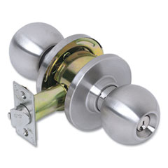 Tell® Heavy Duty Commercial Entry Knob Lockset, Stainless Steel Finish