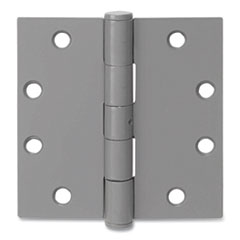 Tell® Primed Door Hinges, 4.5 x 4.5, Steel, 3/Pack