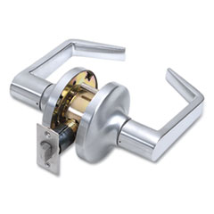 Tell® Heavy Duty Commercial Passage Lever Lockset, Satin Chrome Finish