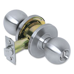 Tell® Heavy Duty Commercial Privacy Knob Lockset, Stainless Steel Finish
