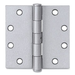 Tell® Plain Bearing Door Hinge, 4.5 x 4.5, Satin Stainless Steel