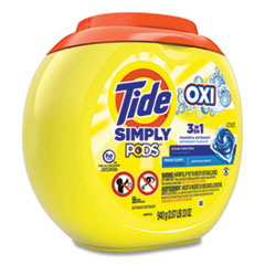 Tide® Simply PODS Plus Oxi Laundry Detergent, Fresh Scent, 55/Tub