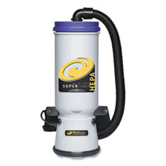 ProTeam® Super CoachVac Backpack Vacuum with Xover Telescoping One-Piece Wand, 10 qt Tank Capacity, Gray/Purple