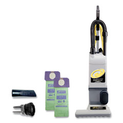 """ProTeam® ProForce 1500XP Upright Vacuum, 15"""" Cleaning Path, Gray/Black"""