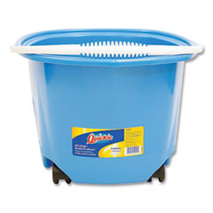 Quickie® EZ-Glide Bucket on Wheels, 5 qt, Blue