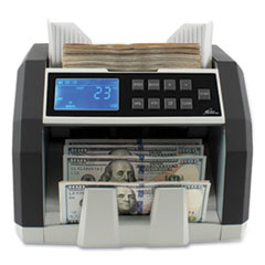 Royal Sovereign Front Load Bill Counter with Counterfeit Detection, 1,400 Bills/min, 9.76 x 10.63 x 9.65, Black/Gray