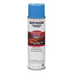 Rust-Oleum® Industrial Choice Construction Marking Paint, Reflective Caution Blue, 17 oz Aerosol Can