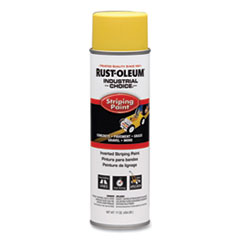 Rust-Oleum® Industrial Choice S1600 System Inverted Striping Paint Spray, Flat/Matte Yellow, 17 oz Aerosol Can