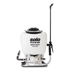 "Solo® 470 Professional Series Heavy-Duty Backpack Sprayer, 4 gal, 48"" Hose, 28"" Wand, Translucent White/Black"