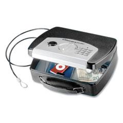 Sentry® Safe P008E Portable Electronic Security Safe, 0.08 cu ft, 10 x 7.9 x 2.9, Black/Silver