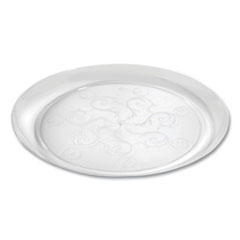 Tablemate® Savvi Serve Plastic Dinnerware with Scoll Design, 9 oz, Clear, 20/Pack, 12 Packs/Carton