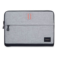 """Targus® Strata Neoprene Laptop Sleeve, For 13.3"""" Laptops, 14 x 2 x 10.25, Pewter/Black"""
