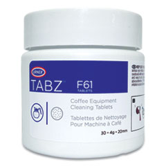 Urnex® Tabz Coffee Equipment Cleaning Tablets, 0.14 oz Tablet, 30 Tablets/Jar