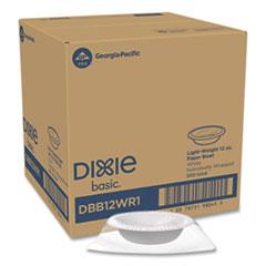 Dixie® Everyday Disposable Dinnerware, Individually Wrapped, Bowl, 12 oz, White, 500/Carton