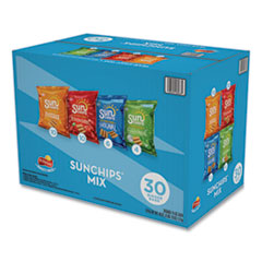 SunChips® Variety Mix, Assorted Flavors, 1.5 oz Bags, 30 Bags/Box