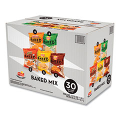 Frito-Lay Baked Variety Pack, BBQ/Crunchy/Cheddar and Sour Cream/Classic/Sour Cream and Onion, 30/Box