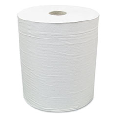 """American Paper Converting Hardwound Paper Towel Roll, Eco Green Paper, 1-Ply, 7.88"""" x 800 ft, White, 6/Carton"""
