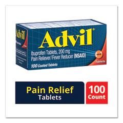 Advil® Ibuprofen Ibuprofen Pain Reliever Tablets, 100/Box