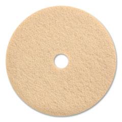 "Coastwide Professional™ Burnishing Floor Pads, 27"" Diameter, Tan, 5/Carton"